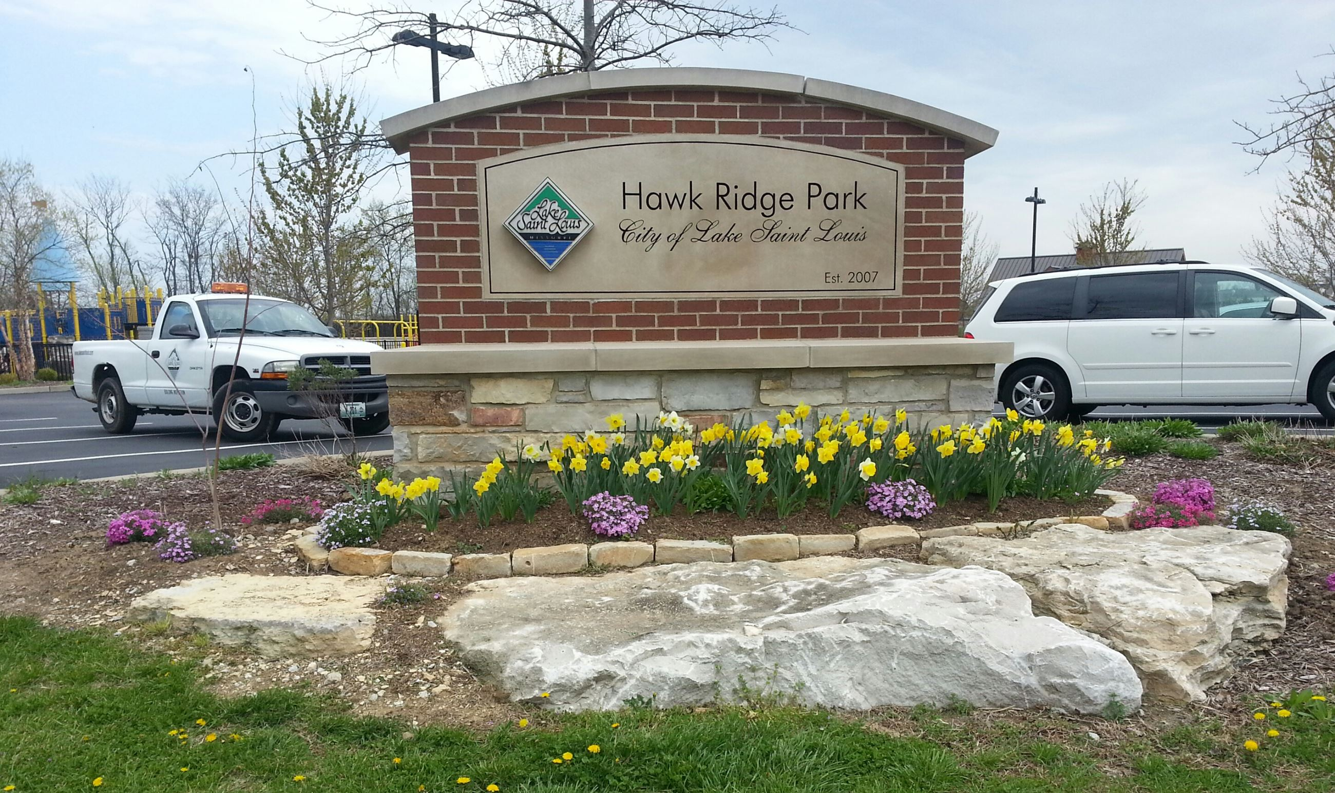 Entrance Sign for Hawk Ridge Park