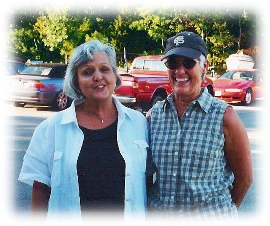 Volunteers Judy and Carol